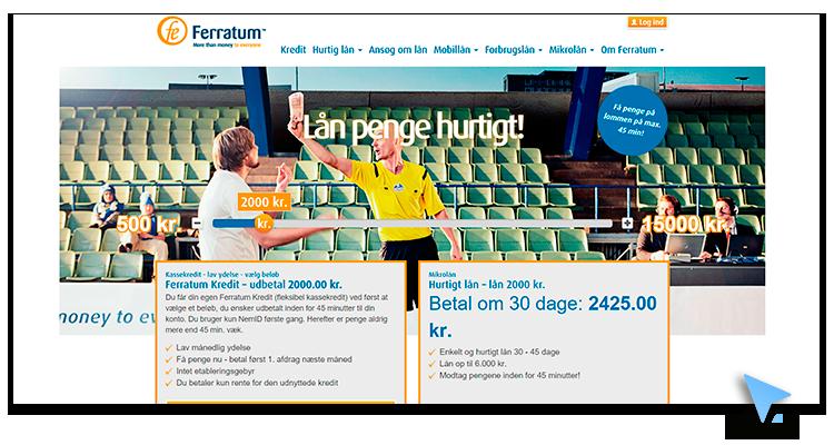 Ansøg online hos Ferratum