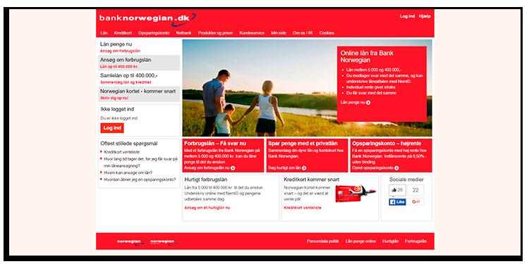 bank norwegian hjemmeside