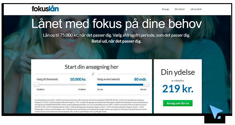 fokuslån hjemmeside